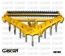 SOUS-SOLEUSES EN V-9 DENTS MULTI POSITION-GASCON INTERNATIONAL MACHINES AGRICOLES